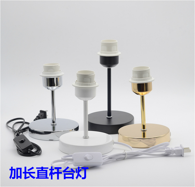 E27 lamp holder lamp cup with hollow tube metal base button switch e27 lamp holder lamp cup with hollow tube metal base button switch cable wire for table keyboard keysfo Image collections