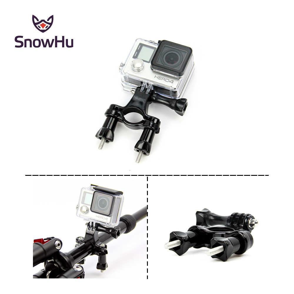 SnowHu para Gopro accesorios bicicleta motocicleta manillar sillín poste montaje trípode para Gopro Hero 7 6 + 5 4 3 cámara para xiaomi yi