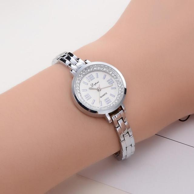 Lvpai Women's Watch Crystal Diamond Bracelet Stainless Steel Quartz Wrist Watch