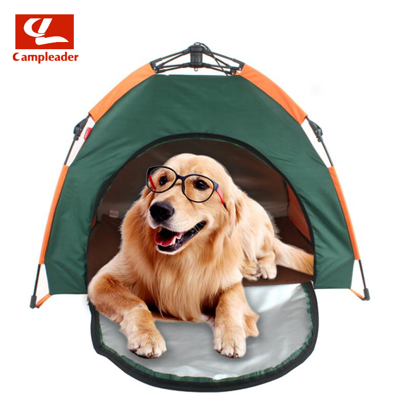 Tente pour animaux de compagnie extérieure automatique pliable chat maison chenil anti-pluie protection solaire Portable nid pour animaux de compagnie voiture chien tente CL339