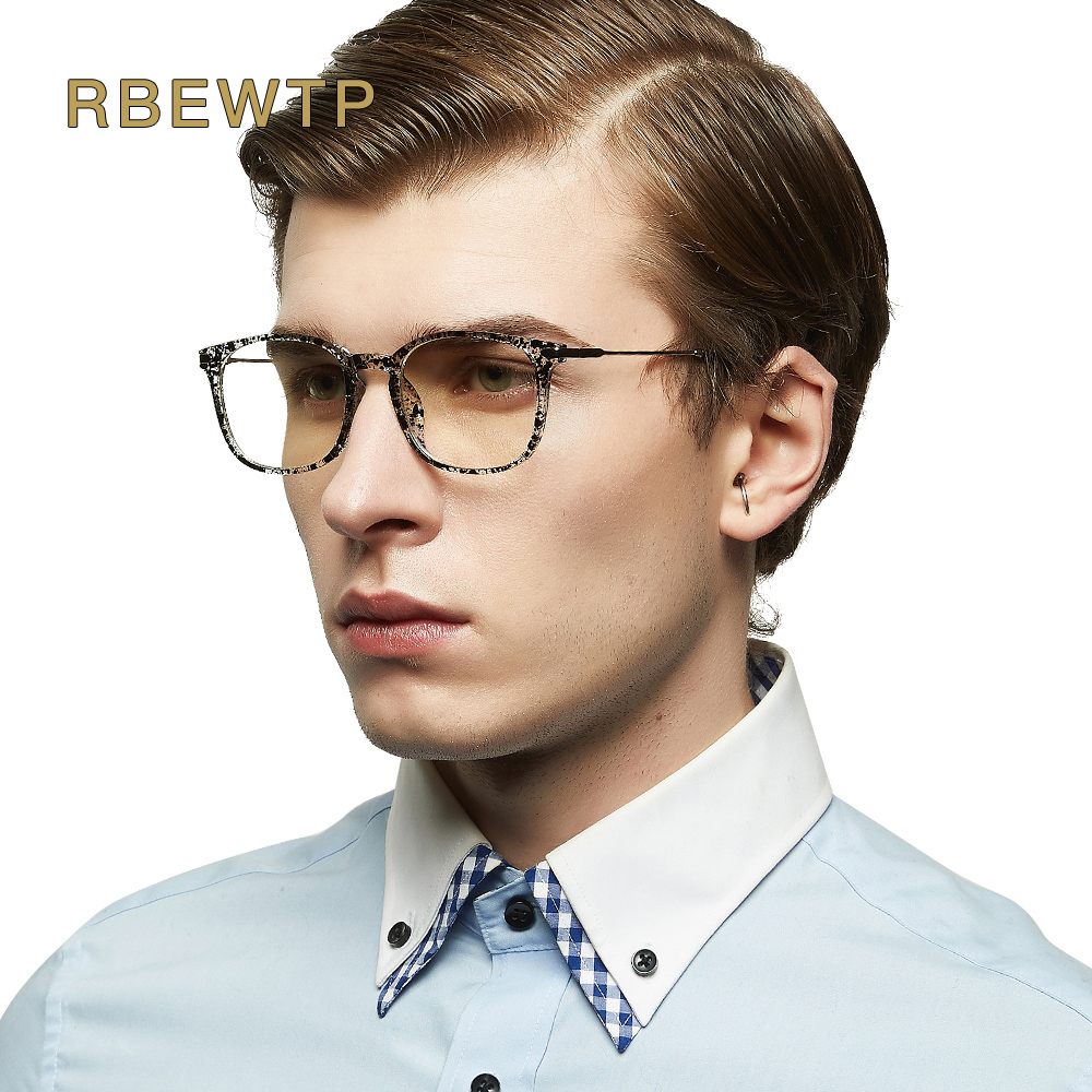 RBEWTP TR90 Blue Light Blocking Glasses led Reading Glasses Radiation-resistant Clear eye Computer Gaming Glasses Frame Eyewear
