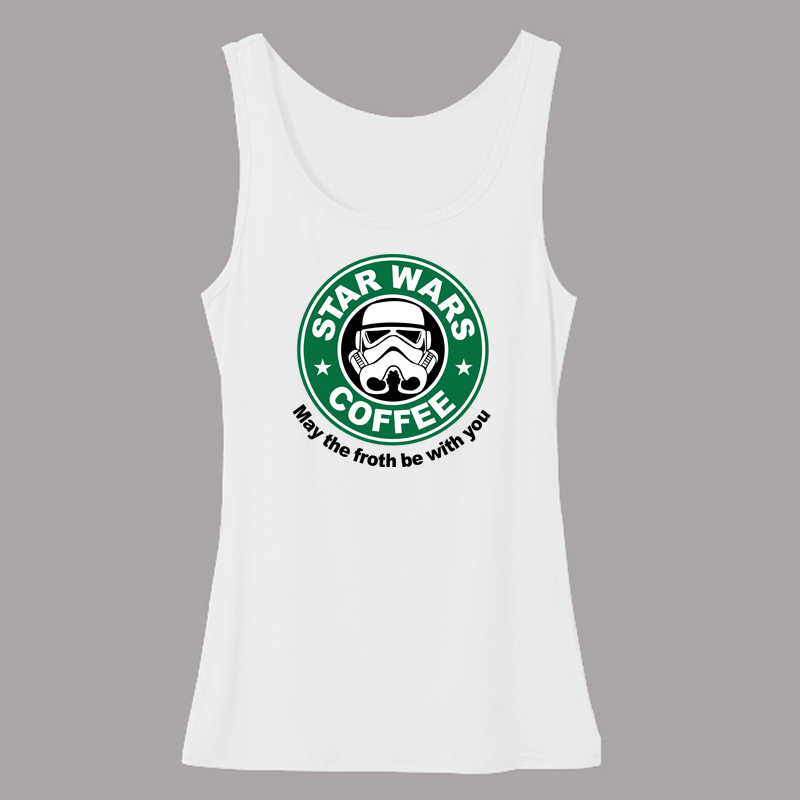 83fc25f35b2d7 Movie Star Wars WoMen s Tank Tops Stylish Logo Printing Yoda Headphones  Shirts Tanks Duck Vader Female Fashion Vests Clothes-in Tank Tops from  Women s ...