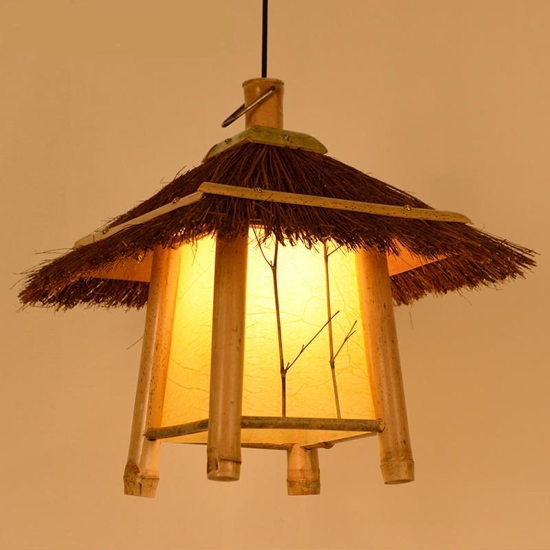 New Wood Pendant Light Retro Bamboo Pendant Lamps Balcony Corridor Cafe Clothing Store Lamps Decor Home Lighting Pendant Lights|Pendant Lights| |  - title=