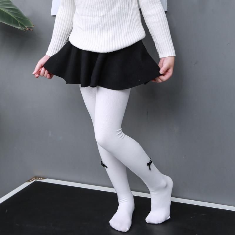 glittery sweet Brand Autumn And Winter New Children's Leggings Pantyhose Baby Bowknot Bottom Stockings Girls Dance Stockings