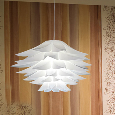 Limited area post Cafe LED bedroom study PP lotus pendant light PVC lotus hanging lamps ZH FG746 LU1019 large illumination area ul panel light 4 x1 1200x300mm hanging recessed wall surface mounting no gare soft flat light