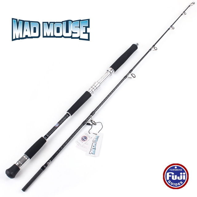 MAD MOUSE 2018 New Japan Fuji Guides Cross Carbon Jigging Rod 1.68m Different Hardness 37KGS Boat Rod Jig Rod Ocean Fishing Rod