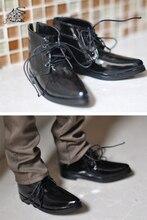 1/3 1/4 man boy SD AOD DOD BJD Dollfie MSD YG018 נעלי נעלי PU עור סינטטי שחור חליפה לבנה