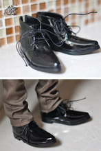 Homme et garçon SD AOD, souliers de poupée synthétique, DOD BJD MSD, en cuir noir et blanc, 1/3, 1/4 YG018, chaussures en polyuréthane