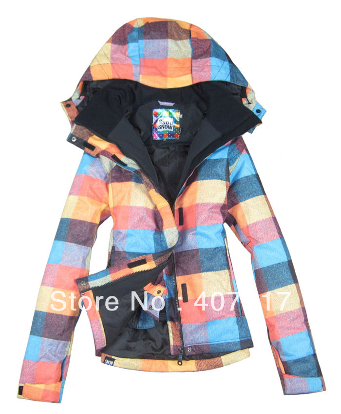 Popular Plaid Snowboard Jacket-Buy Cheap Plaid Snowboard Jacket ...