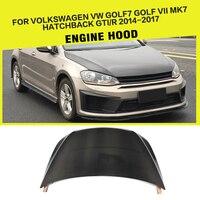 Углеродного волокна автомобилей передний капот шляпки для Volkswagen VW Golf MK7 GTI R хэтчбек 2014 2017