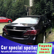 For toyota Camry 2006 to 2011 model Spoiler High Quality ABS Car Rear Wing Spoilers for silver white black primer paint spoiler new design for toyota camry 2018 high quality and hardness abs material spoiler by primer or diy color paint camry spoilers