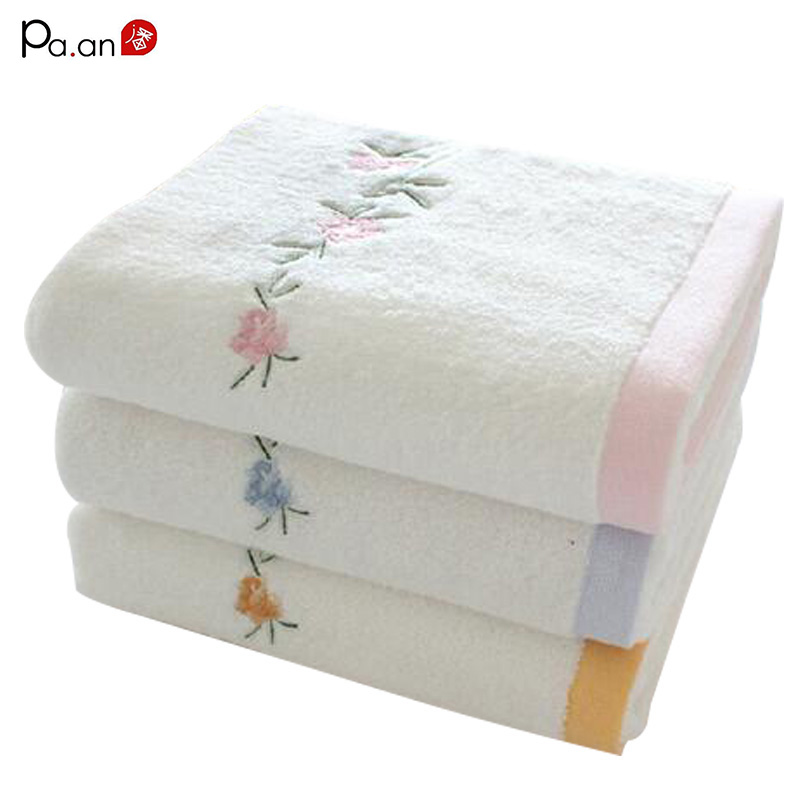 Online Buy Wholesale Embroidery Bath Towels From China