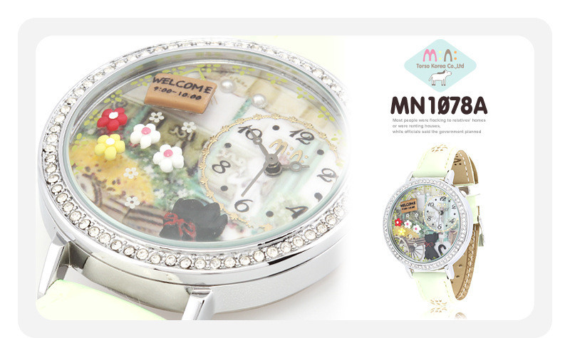 цены Romantic Girls Handmade Clay Quartz Watch Luxury Women Crystals Dress Clock Original Brand Mini Water Resistant Wristwatch NW855