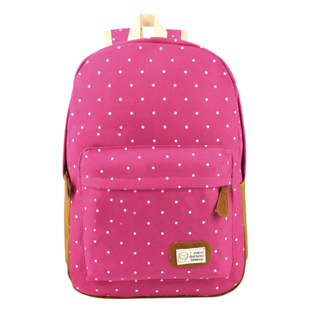 MOJOYCE Canvas Dot Printing Backpack Women School Bag Teenage Girls Cute Bookbag Vintage Laptop Backpacks Female hand bag цена