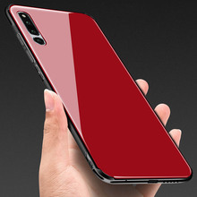 Tempered Glass Case for Huawei Honor Magic 2 Hard Back Cover Magic2 Soft TPU Silicone Bumper On For