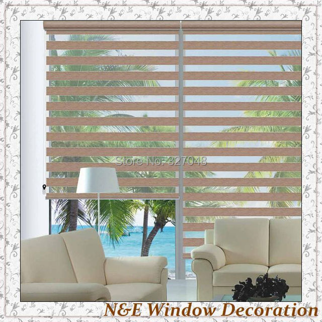 Free shipping 100% polyester blackout plastic curtain window ...