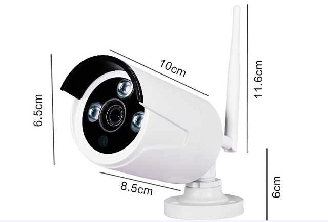 MISEC 2.0MP Wifi 2.4G kit Plug&Play 1080P VGA/HDMI P2P WIFI IP Metal Camera FULL HD night vision NVR Wireless Waterproof CCTV