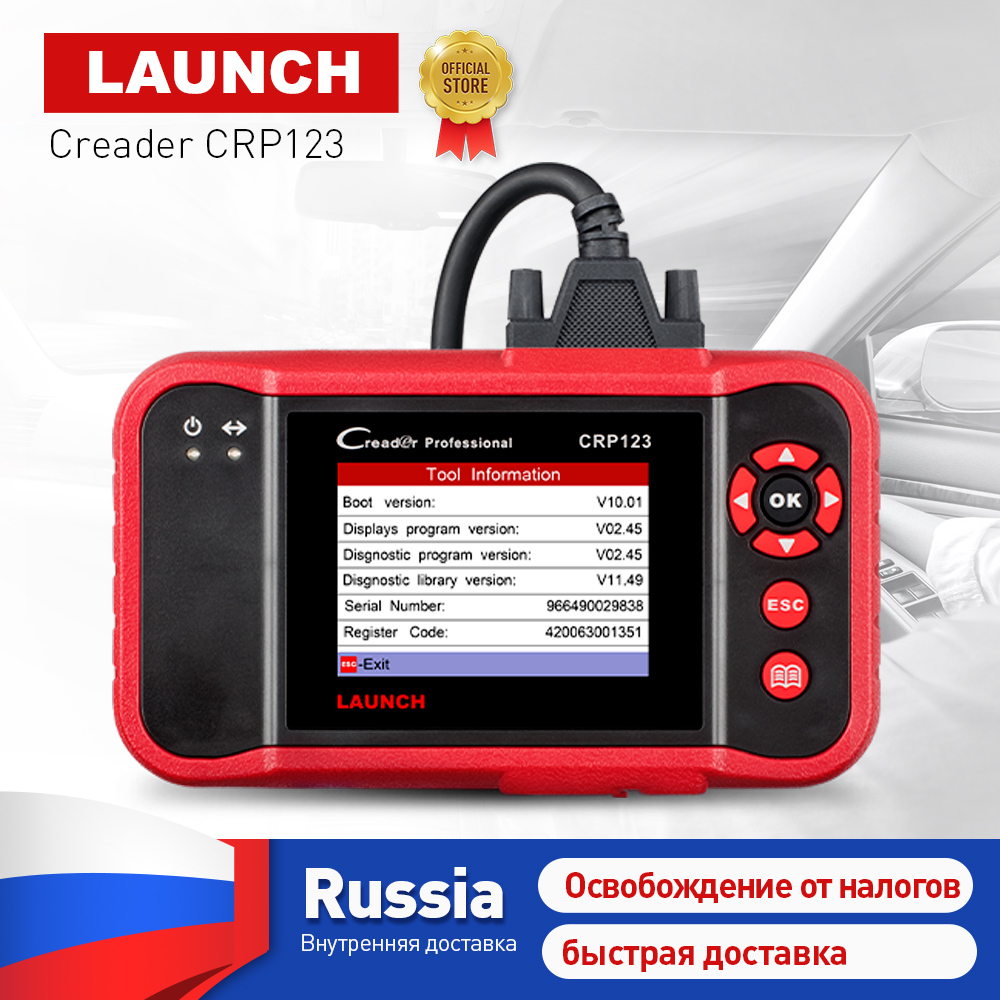все цены на LAUNCH CRP123 Professional obd2 Car Scanner OBDII code reader scan tool CRP 123 test Engine ABS Airbag AT Same as Creader VII+ онлайн