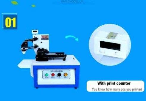 2 единицы X 2019 Новый электрический запечатанная чаша чернил печатная машина накладок с принтом счетчик + клише пластины + резиновая прокладк
