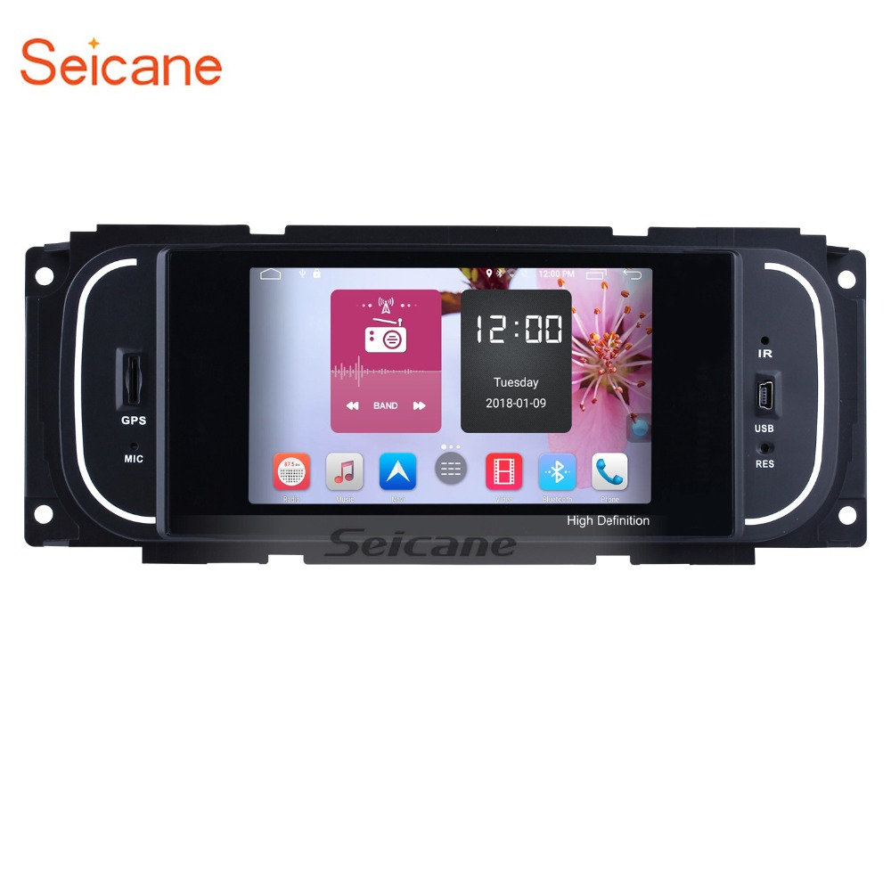 Seicane Android 6.0 1Din 5 Car Radio For Chrysler 300M Jeep Grand Cherokee Dodge Audio Stereo Head Unit GPS Multimedia Player jdaston android 6 0 car multimedia dvd radio player for dodge chrysler sebring jeep compass commander grand cherokee wrangler