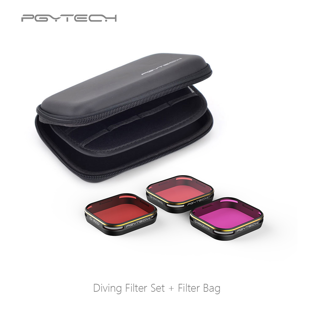 PGYTECH Diving Filter housing version for GoPro Hero 5 Super Suit housing exclusive red filter For GoPro Camera Accessories степлер sн486 скоба 24 6 сшивает до 20 листов светло серый 2631307