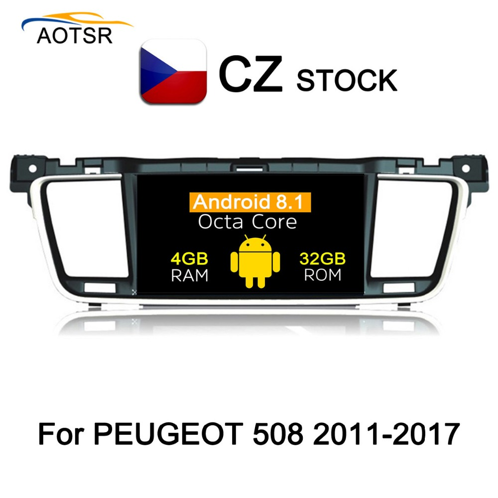 IPS Screen Android 8 1 Car head unit For PEUGEOT 508 2011 2012 2013 2014 2015