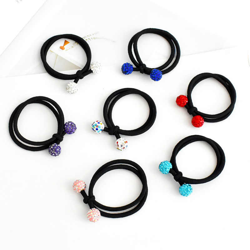 Drill ball and tie the knot hair ring, girl hair ornament does not hurt hair, high elastic rubber band