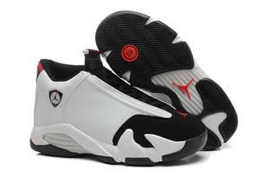 37afc04958a62e Jordan Air Retro 14 XIV Black Gray Red Mens Basketball Shoes For Men Jordan  Sho