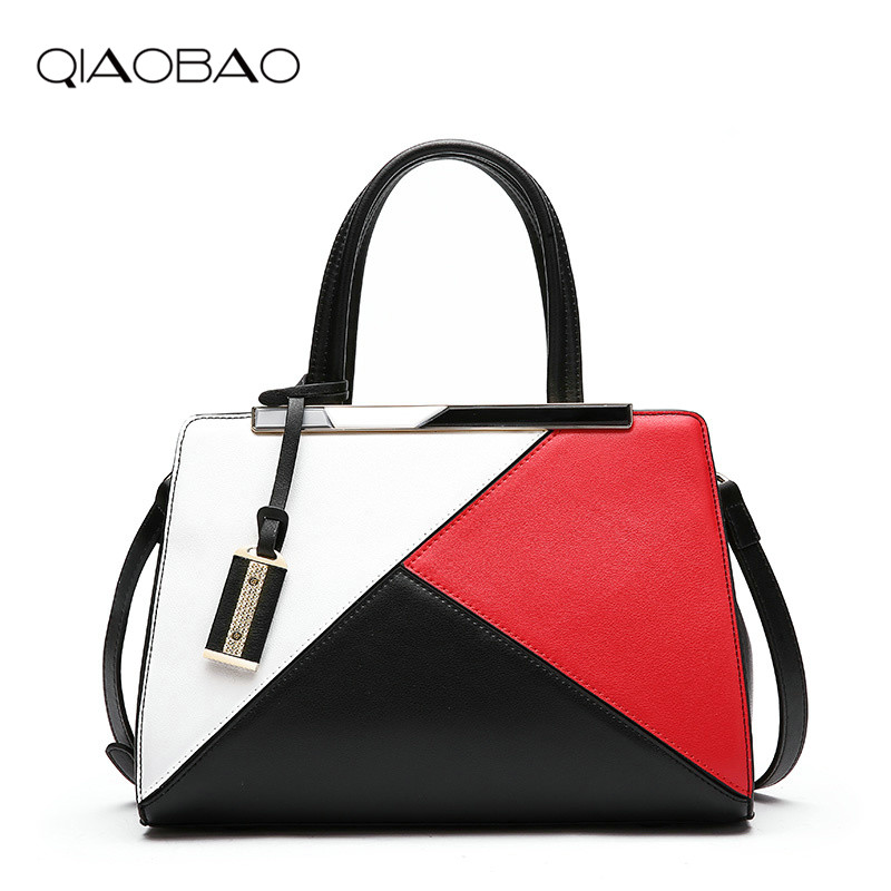 QIAOBAO 2018 New Genuine leather shoulder Bag Patchwork leisure package stitching hit color square bag ladies bag Fashion Totes qiaobao 100% genuine leather handbags new network of red explosion ladle ladies bag fashion trend ladies bag