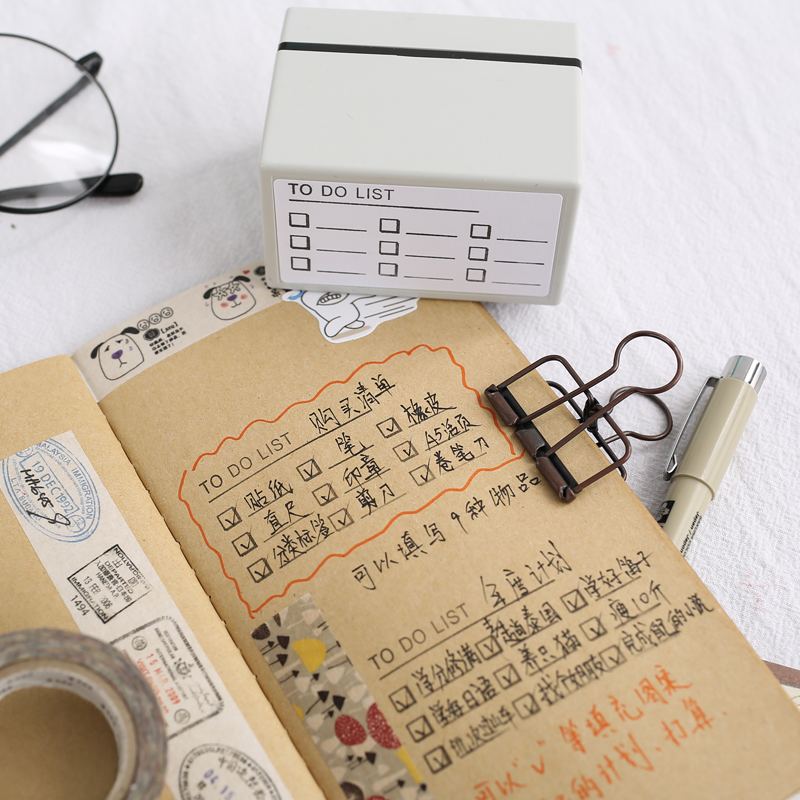 1pc Year Monthly Weekly Seal Creative Schedule Planner Scrapbooking DIY Stamp Students School Office Supplies Kawaii Stationery