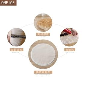 Image 4 - 30*30 centimetri morbido artificiale tappeto di pelle di pecora cuscino della copertura camera da letto artificiale coperta caldo tappeto capelli lunghi sedile pelliccia pavimento mat