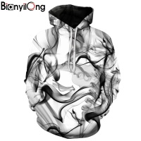 BIANYILONG New Fashion Men Women 3d Sweatshirts Print Watercolor Dreamy Smoke Lines Thin Style Autumn Winter