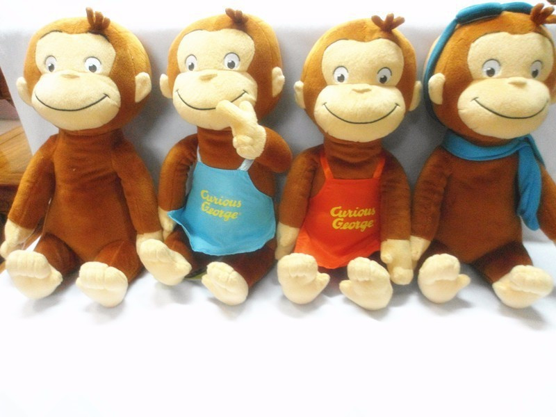 30cm Curious George Plush Doll Boots Monkey Plush Stuffed Animal Toy stuffed animal 44 cm plush standing cow toy simulation dairy cattle doll great gift w501