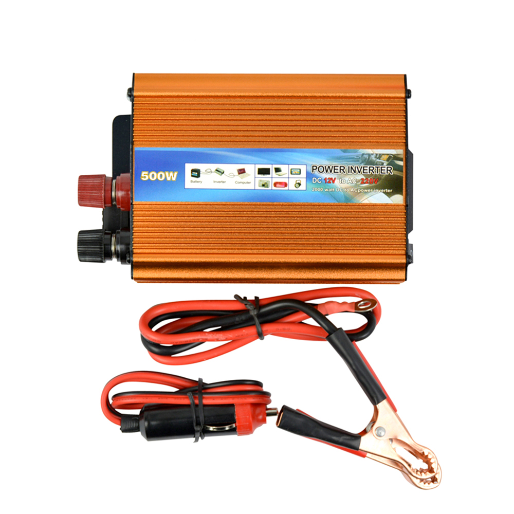 Aiyima 500W  Inverter DC 12V to AC 220V Modified Sine Wave Automobile Power Inverter with USB Charger CE CertificationAiyima 500W  Inverter DC 12V to AC 220V Modified Sine Wave Automobile Power Inverter with USB Charger CE Certification