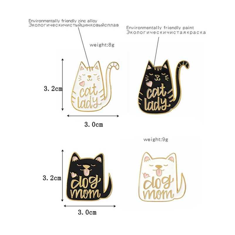 2019 chất lượng Cao Dễ Thương Mèo Men Brooch đối với Đảng Men Pin Đen Animal Brooch đối với Phụ Nữ Trang Sức Phụ Kiện