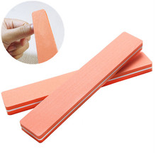 1PC Professional Nail File 180 Washable Limas Rectangulares Sponge Orange Nail File Buffer Durable Sanding Nail Art Tools