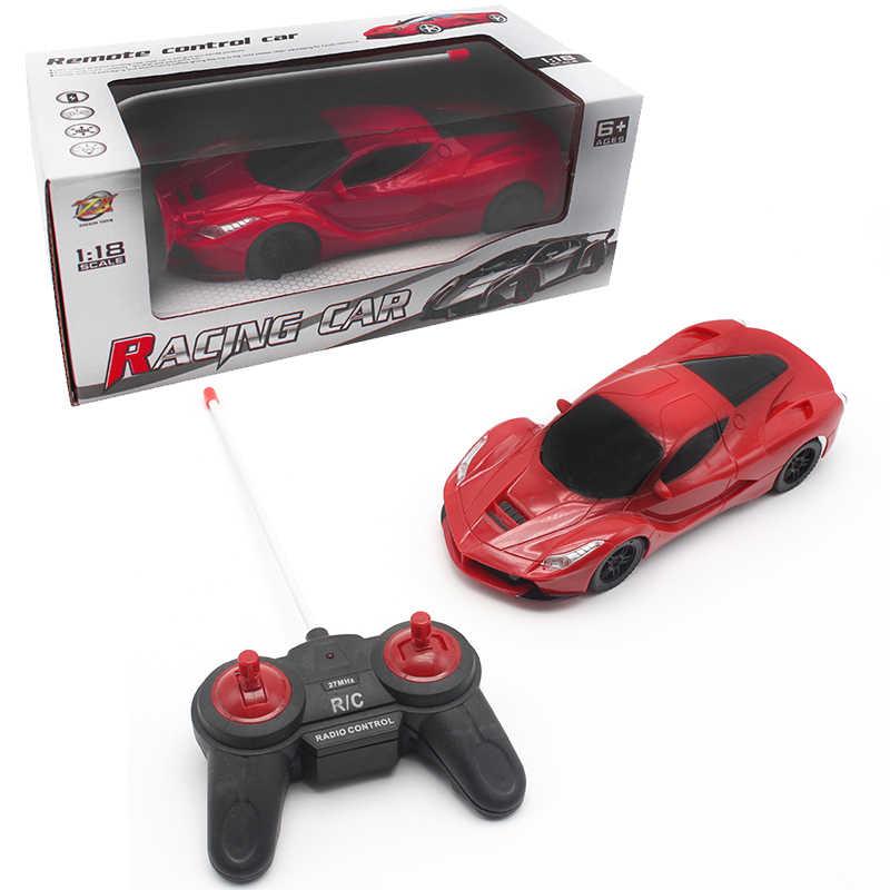 Rcミニ車リモートコントロール1/18ドリフト速度ラジオステアリングホイールrcレーシングカーラジコン車rcカー+ ledライト