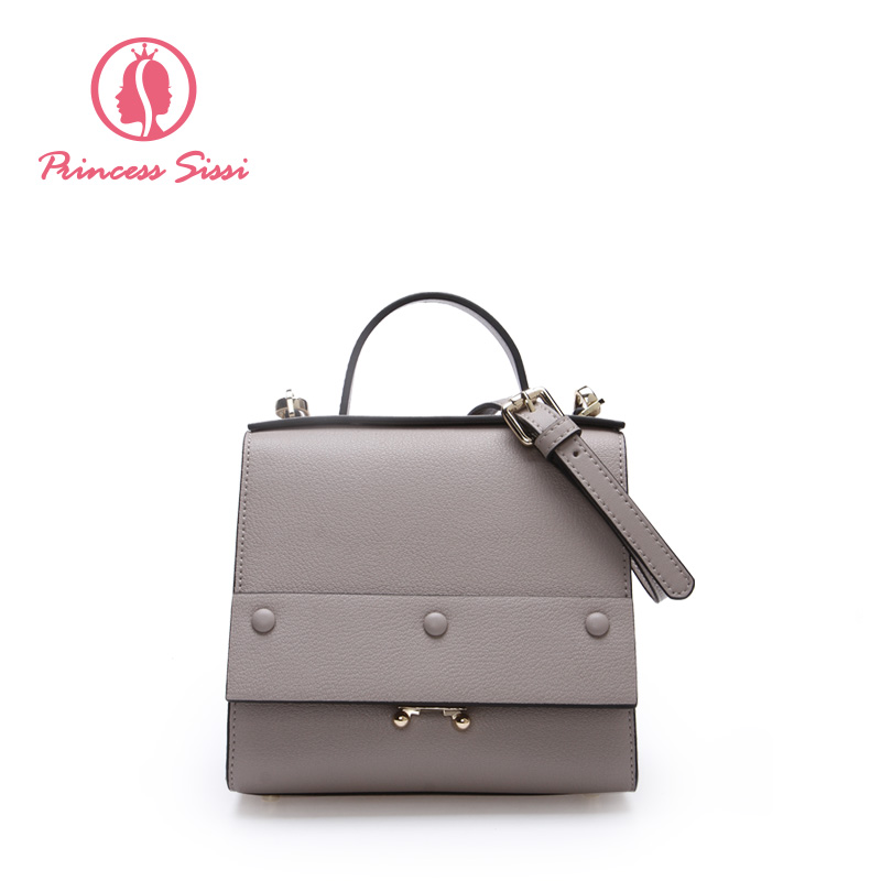 Princess Sissi Famous Brand Tote Bags For Girls Light Pink&Blue Gray Women Messenger Bags Hasp Handbags Split Leather Shoulder 2017 new famous designer brand bags women cattle split leather ladies fashion handbag gray tote bags hasp shoulder bags hd651118