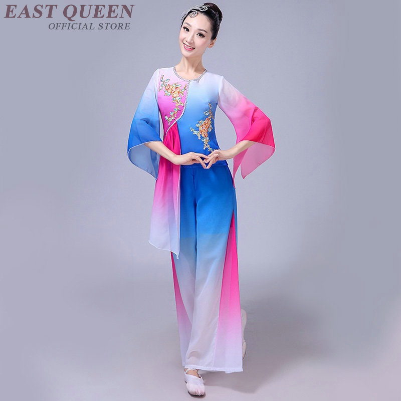 Chinese folk dance clothing pant suits Chinese dance costumes yango drum  fan stage dance wear outfit performance FF931-in Chinese Folk Dance from  Novelty ... 4f8ae80f3
