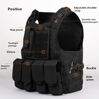 Amphibians combat Molle design military Tactical Hunting vest Quick Release Modular Military Molle Combat with magazine pouch