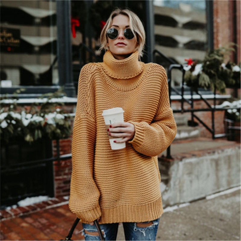 30pcs/lot 2018 New autumn and winter Top solid color large size commuter high collar Top women's clothing