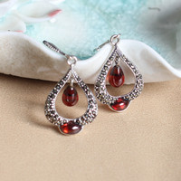 The Noble Fashion Of The Thai Silver Sterling Silver 925 Silver Garnet Capsule Drill Collars