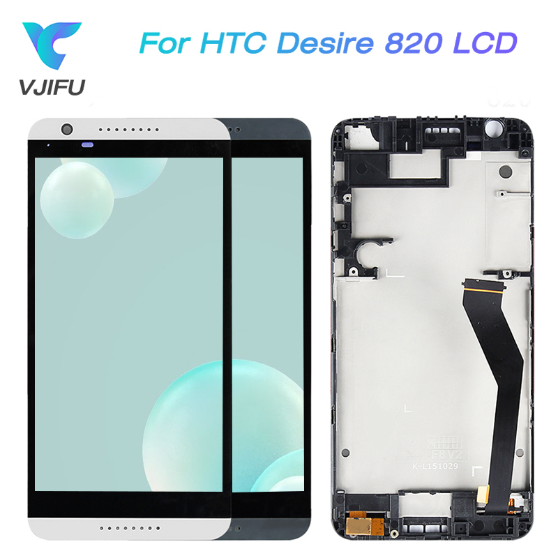 Original For HTC Desire 820 LCD Touch Screen with Frame For HTC Desire D820 Display Screen Digitizer Assembly Replacement PartsOriginal For HTC Desire 820 LCD Touch Screen with Frame For HTC Desire D820 Display Screen Digitizer Assembly Replacement Parts