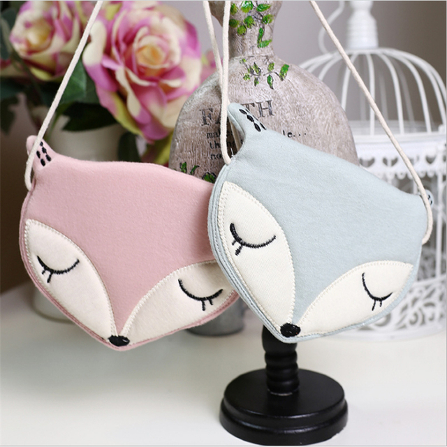 Lovely Children Shoulder Bag Coin Purse Cute Fox Messenger Bag Kids Accessories Little Grils Handbags Mini Clutch Crossbody Bags