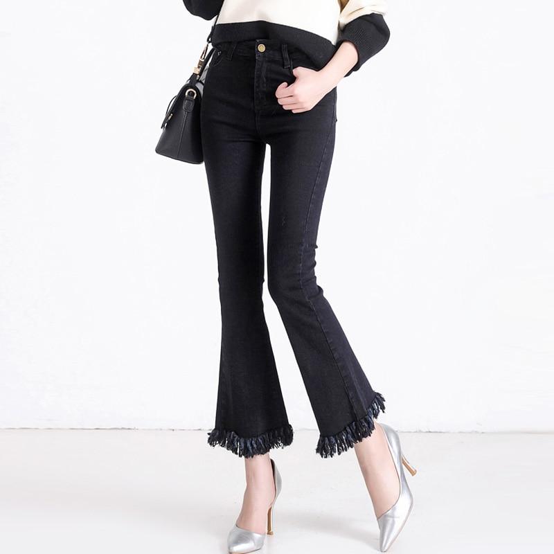 comandă online drăguţ multe stiluri Pantaloni Jeans pentru femei cu franjuri vintage 2018 Nou 4XL 5XL ...