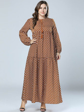 New Autumn Dresses For Large Size Womens Long And Loose In Europe America