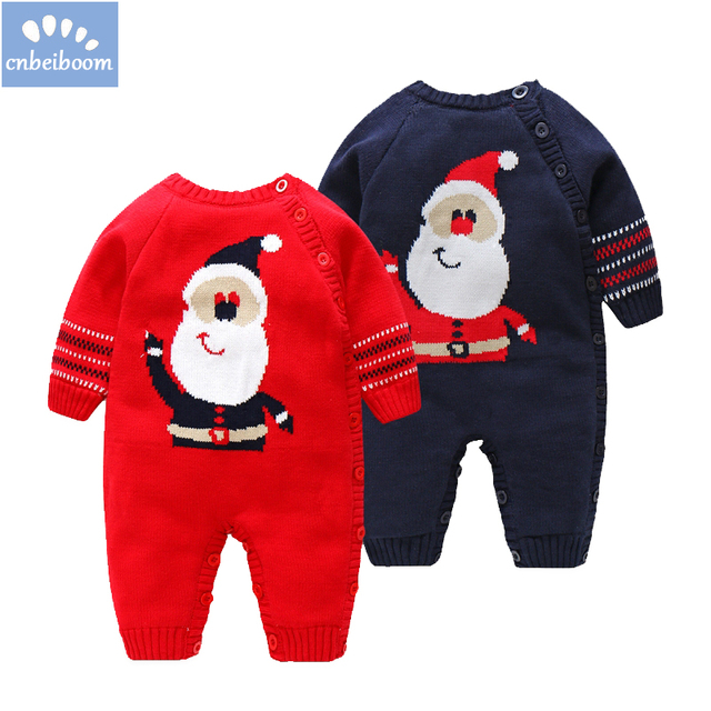 b6f60cf5e 2018 Christmas baby rompers infant boys girls Santa Claus clothes ...