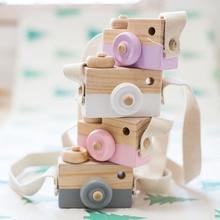 Милая камера детская игрушка для создания ручной работы деревянная камера игрушки для малышей, детей безопасные Развивающие игрушки для детей Подарки Фотография реквизит украшения