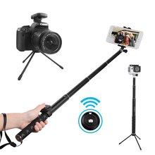 Selfie Vara com Bluetooth Remoto e Tripé Portátil À Prova D' Água mini Monopé para GoPro para a Série Samsung para DSLR camera