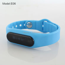 New Chinese cheap bluetooth touch screen smart band E06 health fitness tracker, pedometer sleep tracker smart bluetooth bracelet